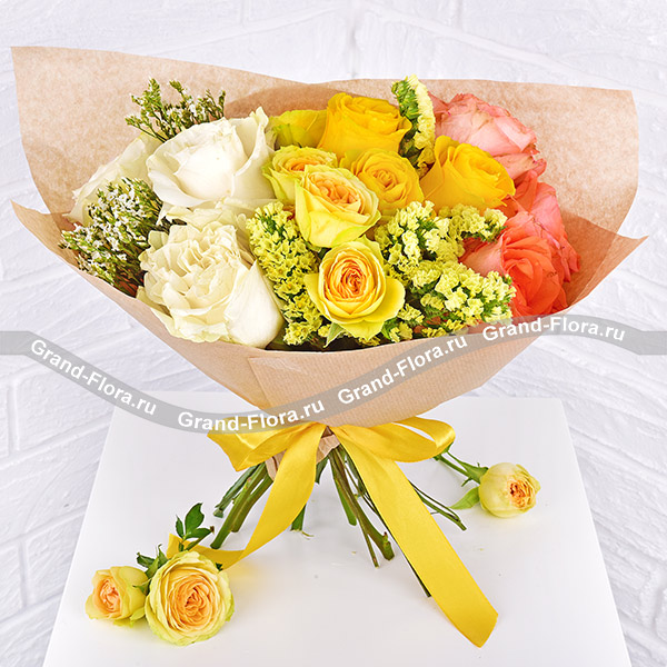 Букет Букет 51 роза Мондиаль в корзине