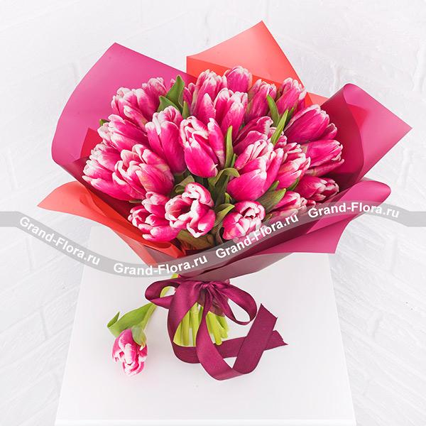 Тюльпаны Гранд Флора Женственность - букет из розовых тюльпанов фото