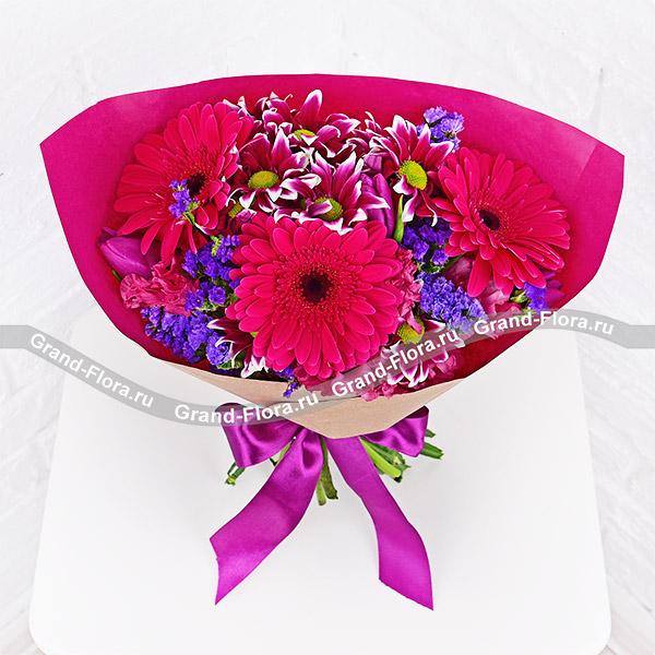 Купить Страна Оз - Букет С Фиолетовой Хризантемой