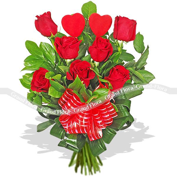 Букет из 19 красных роз - От всего сердца от Grand-Flora.ru