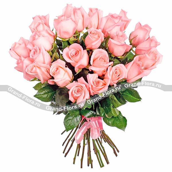 Монобукет розовых роз - букет из розовых роз