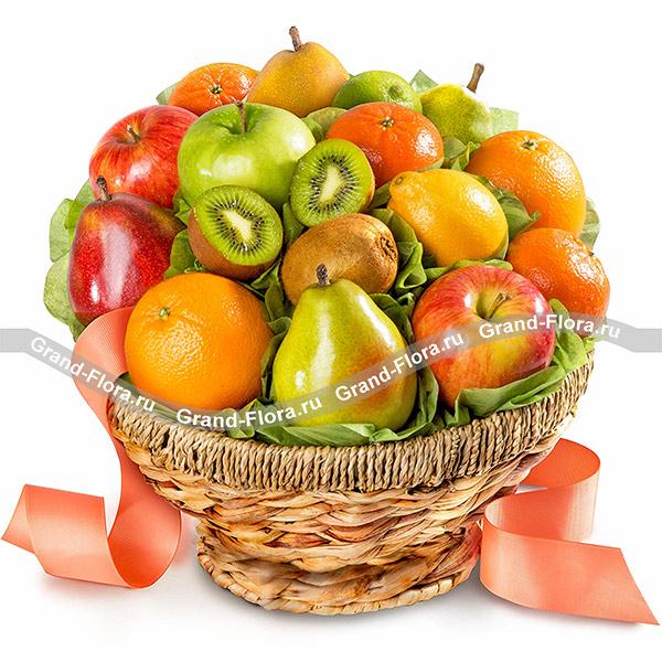 Все композиции Гранд Флора Фрутелла - корзина с фруктами фото