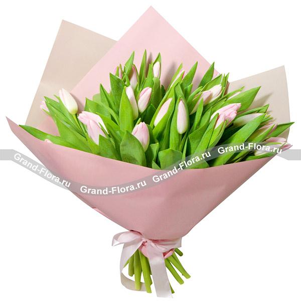 Тюльпаны Гранд Флора Красивые слова - букет из розовых тюльпанов фото