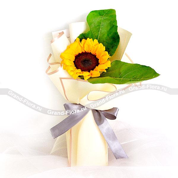 Подсолнухи Гранд Флора Ласковое солнце - букет подсолнухов фото