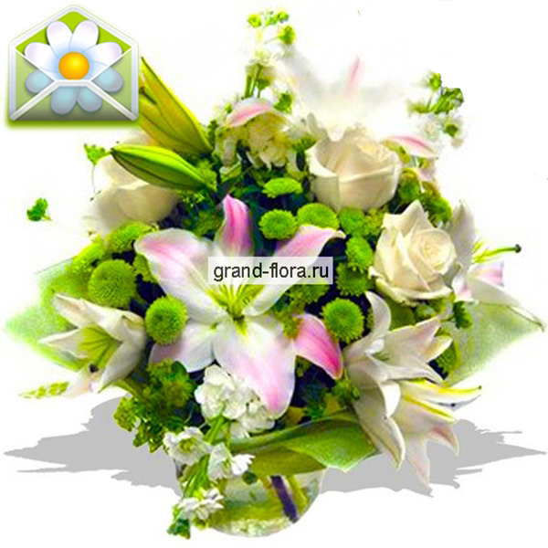 Золушка-букет из роз и лилий