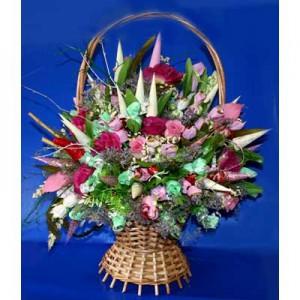 Букет из конфет «Любимые цветы»