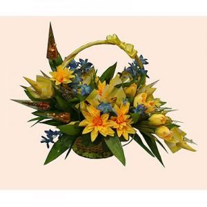 Букет из конфет «Желтые тюльпаны»