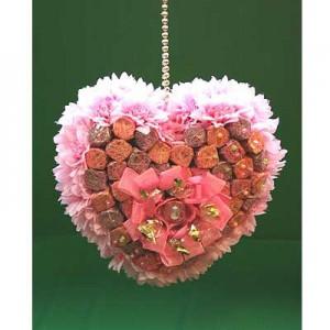 Букет из конфет «Сердечко»