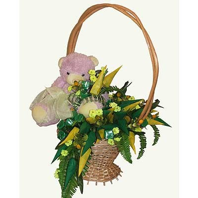 Цветы Гранд Флора Букет из конфет «Медвежонок» фото
