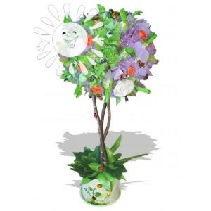Сладкий райДоставка букетов из конфет возможна при оформлении заказа не ранее чем за 2  (два) рабочих дня до планируемой даты доставки.<br><br><br><br>Что ассоциируется с райской жизнью? Сладость, наслаждение, яркие и нежные цвета, красивые   деревья и ангелы....<br>