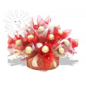 СтрастьДоставка букетов из конфет возможна при оформлении заказа не ранее чем за 2  (два) рабочих дня до планируемой даты доставки.<br><br><br><br>25 конфет Fererro Roshe...<br>