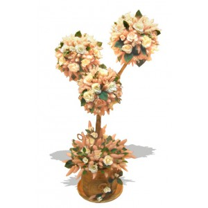 Розовое деревцеДоставка букетов из конфет возможна при оформлении заказа не ранее чем за 2  (два) рабочих дня до планируемой даты доставки.<br><br><br><br>С приближением весны природа оживает, как и наши чувства, которые распускаются подобно   цветам и почкам на д...<br>