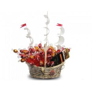БригантинаДоставка букетов из конфет возможна при оформлении заказа не ранее чем за 2 (два) рабочих дня до планируемой даты доставки.<br><br><br>...<br>