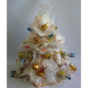 Белая елочка happy people подарок погремушка животные при оформлении заказа на сумму от 1500 рублей