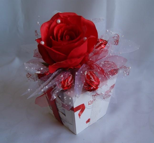 Букеты из конфет Гранд Флора Декор с коробкой конфет №7 фото