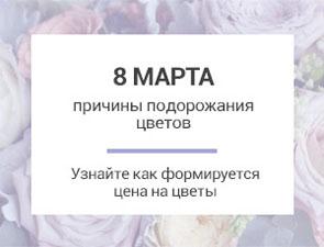 Почему к 8 Марта дорожают цветы?