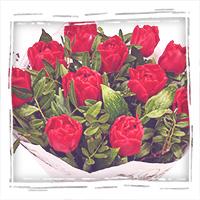 заказать букет красных тюльпанов